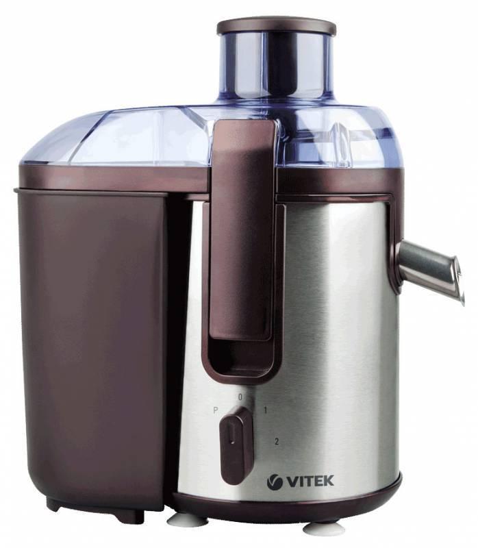 Соковыжималка центробежная Vitek VT-3655 бордовый/серебристый - фото 1