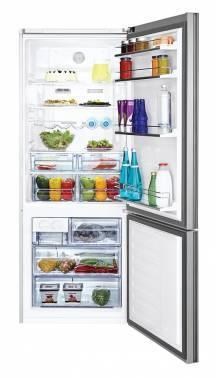 Холодильник Beko CNE47520GB черное стекло / серебристый