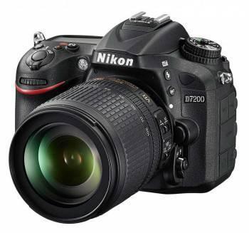 Фотоаппарат Nikon D7200 черный, 1 объектив 18-105mm f/3.5-5.6G VR (VBA450K001)