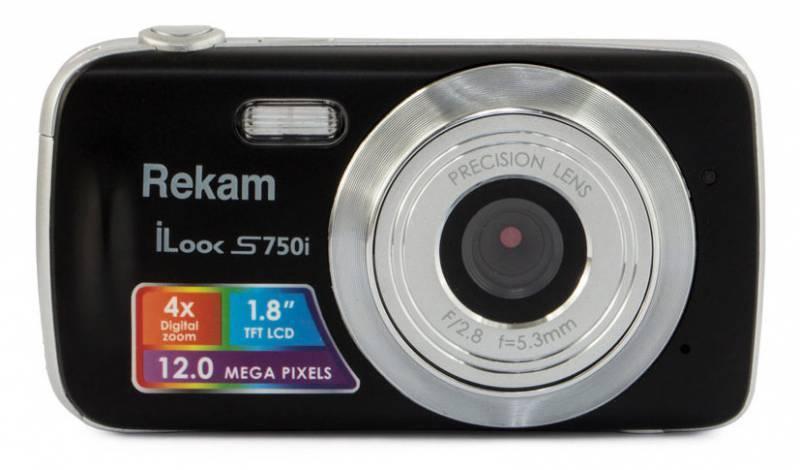 Фотоаппарат Rekam iLook S750i черный (1108005091) - фото 1