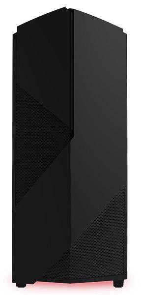 Корпус ATX NZXT Noctis 450 CA-N450W-M1 черный/красный (CA-N450W-M1) - фото 2
