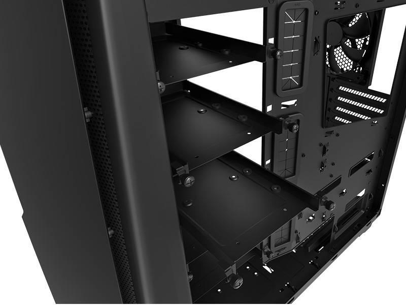 Корпус ATX NZXT Noctis 450 CA-N450W-M1 черный/красный (CA-N450W-M1) - фото 4
