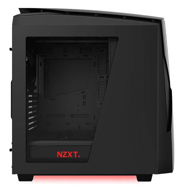 Корпус ATX NZXT Noctis 450 CA-N450W-M1 черный/красный (CA-N450W-M1) - фото 7