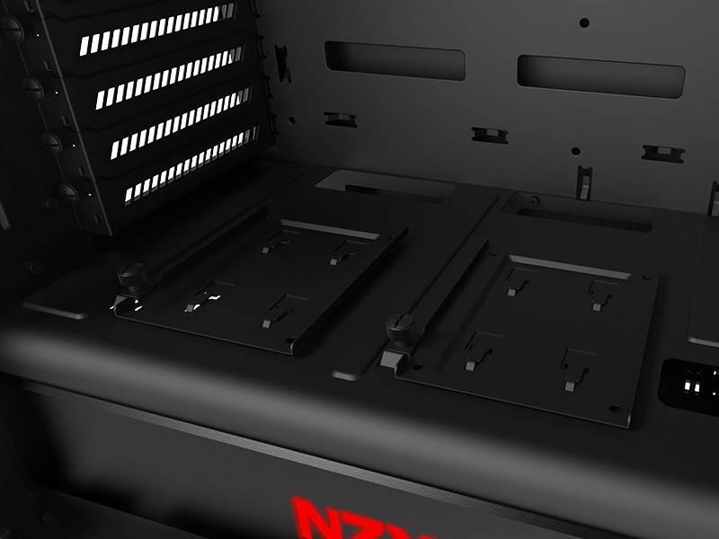 Корпус ATX NZXT Noctis 450 CA-N450W-M1 черный/красный (CA-N450W-M1) - фото 11