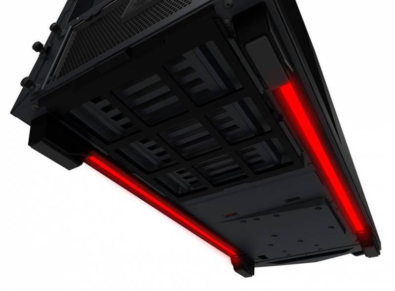 Корпус ATX NZXT Noctis 450 CA-N450W-M1 черный/красный (CA-N450W-M1) - фото 12