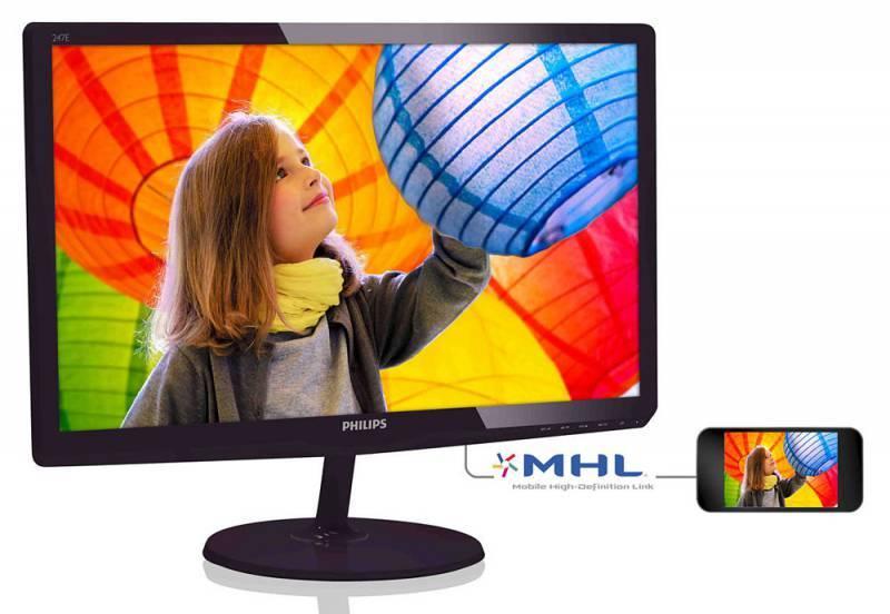 """Монитор 23.6"""" Philips 247E6QDAD (00/01) черный - фото 2"""
