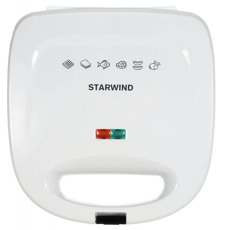 Сэндвичница Starwind SSW8111 белый - фото 3