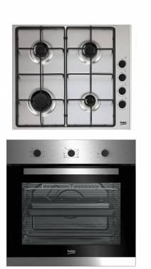 Встраиваемый комплект Beko BSC22130X серебристый черный