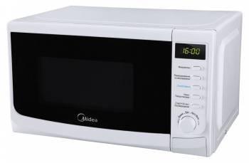 Микроволновая печь (СВЧ) Midea AM820CWW-W белый, мощность 800Вт, объем 20л, покрытие камеры эмаль, комбинированное управление