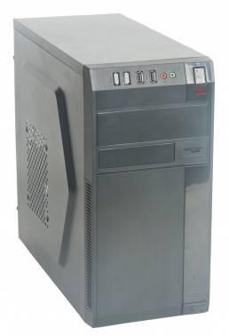 Корпус Formula FM-608 черный, мощность БП 450W, верхнее расположение БП, форм-фактор mATX, длина видеокарты до 300мм, 2x120mm, разъемы 2xUSB2.0, audio