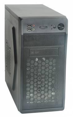 Корпус Formula FM-602 черный, мощность БП 450W, верхнее расположение БП, форм-фактор mATX, длина видеокарты до 300мм, 2x120mm, разъемы 2xUSB2.0, audio