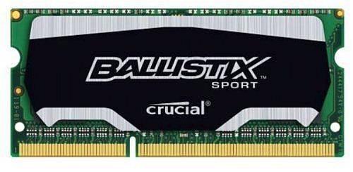 Модуль памяти SO-DIMM DDR3L 8Gb Crucial BLS8G3N169ES4CEU - фото 1