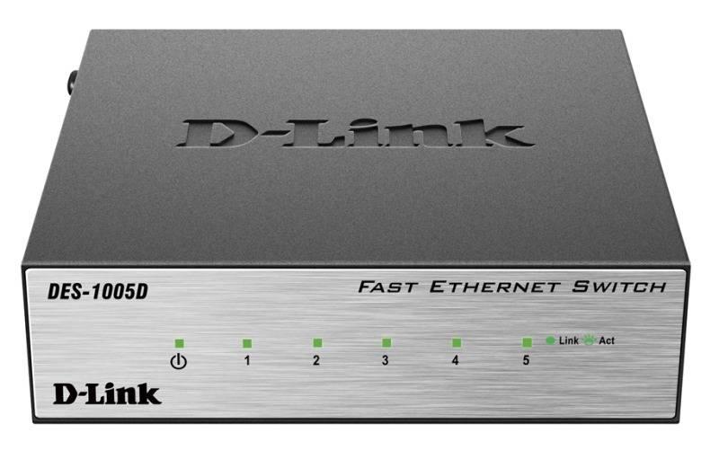 Коммутатор неуправляемый D-Link DES-1005D/O2B - фото 1