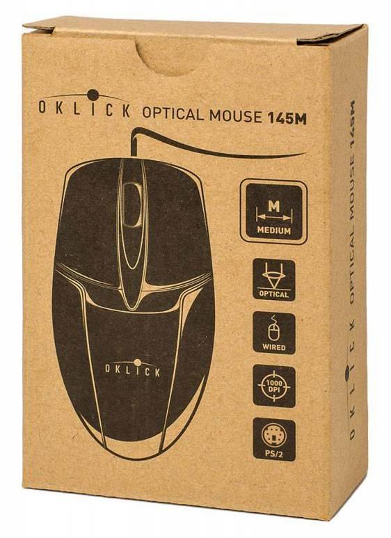 Мышь Oklick 145M черный - фото 4