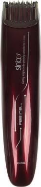 Машинка для стрижки волос Sinbo SHC 4359 красный, насадок в комплекте 1 шт, питание от сети
