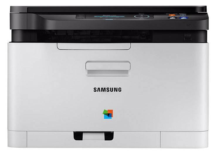 МФУ Samsung SL-C480W серый/черный - фото 1