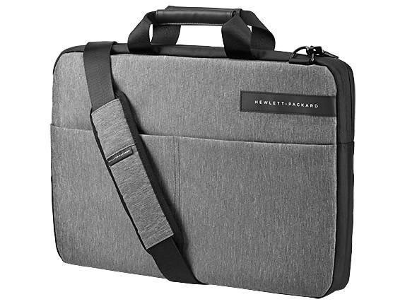 """Сумка для ноутбука 15.6"""" HP Signature Slim Topload черный/серый (L6V68AA) - фото 1"""