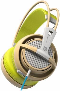 Наушники с микрофоном Steelseries Siberia 200 Gaia Green зеленый / бежевый