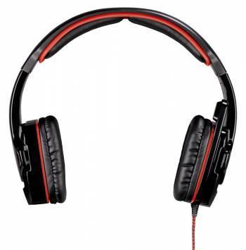 Наушники с микрофоном Hama Fire Starter черный/красный (00053987)