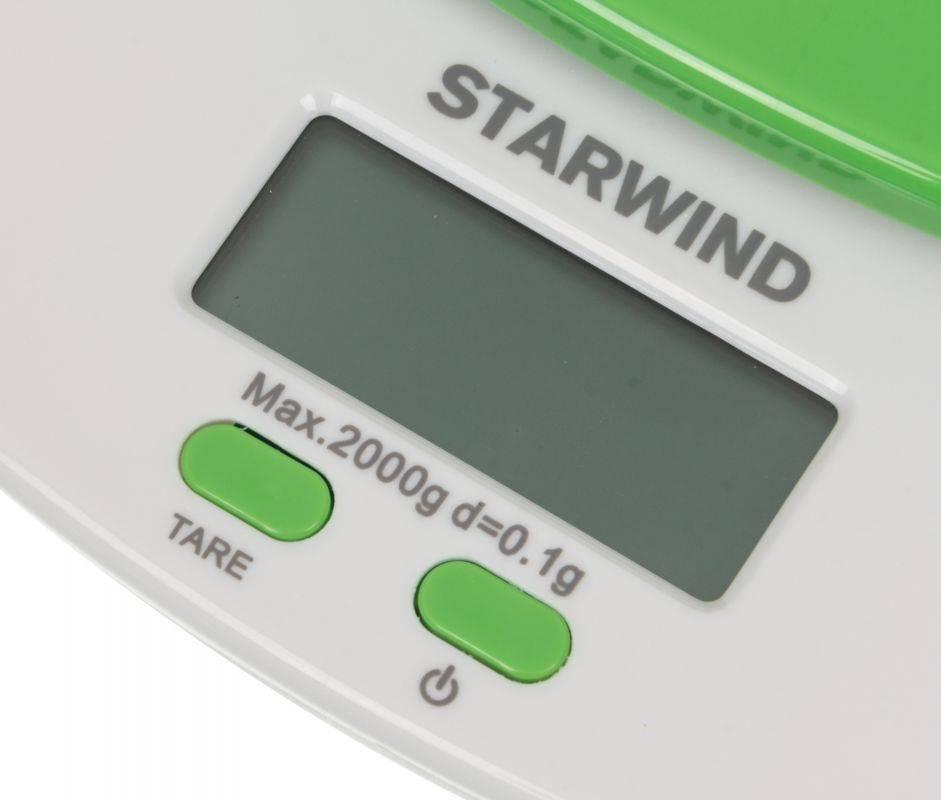 Кухонные весы Starwind SSK2155 зеленый - фото 5