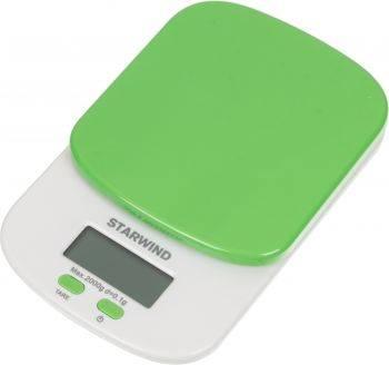 Кухонные весы Starwind SSK2155 зеленый