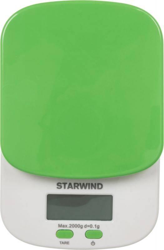 Кухонные весы Starwind SSK2155 зеленый - фото 1