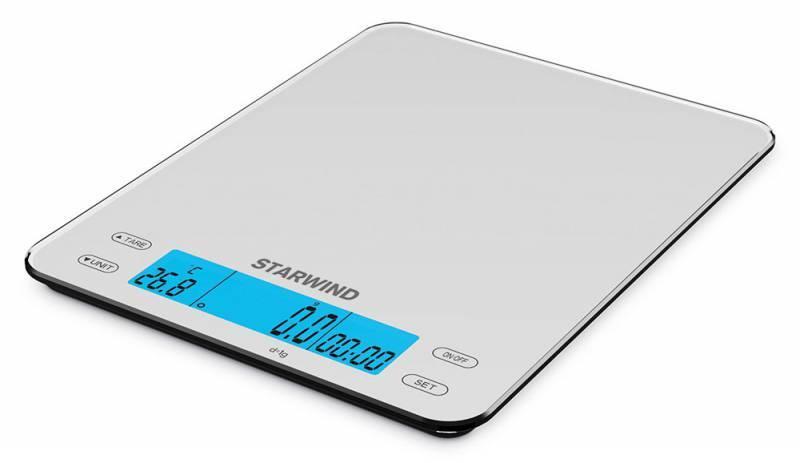 Кухонные весы Starwind SSK8451 белый - фото 1