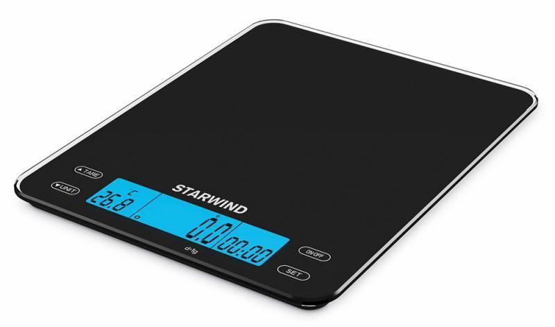 Кухонные весы Starwind SSK8452 черный - фото 1