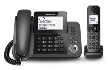 Телефон Panasonic KX-TGF310RUM серый металлик