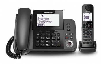 Телефон Panasonic KX-TGF320RUM черный металлик