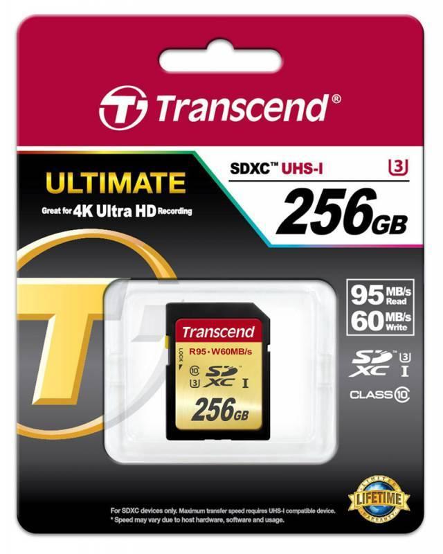 Карта памяти SDXC 256Gb Class10 Transcend TS256GSDU3 - фото 2