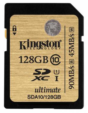 Карта памяти SDXC 128Gb Class10 Kingston SDA10 / 128GB