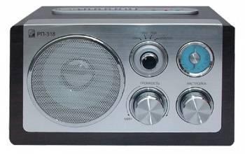 Радиоприемник Сигнал БЗРП РП-318 серебристый/коричневый (15882)