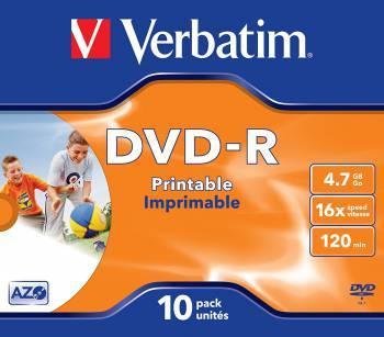 Диск DVD-R Verbatim 4.7Gb 16x (1шт) (43521)