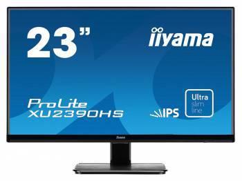 Монитор Iiyama 23 XU2390HS-B1 черный AH-IPS LED 5ms 16:9 DVI HDMI M/M матовая 1000:1 250cd 160гр/160гр 1080x1920 D-Sub