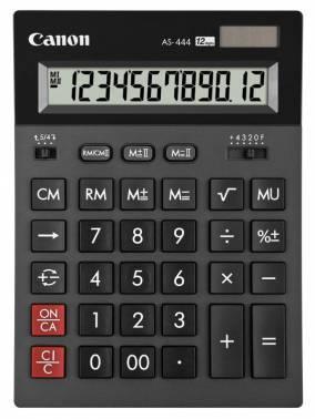 Калькулятор бухгалтерский Canon AS-444 черный