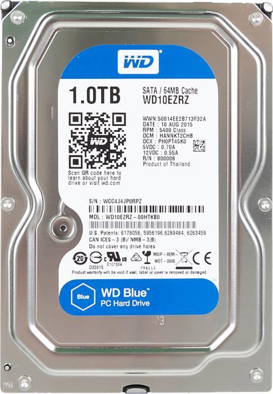 Жесткий диск 1Tb WD Blue WD10EZRZ SATA-III - фото 1