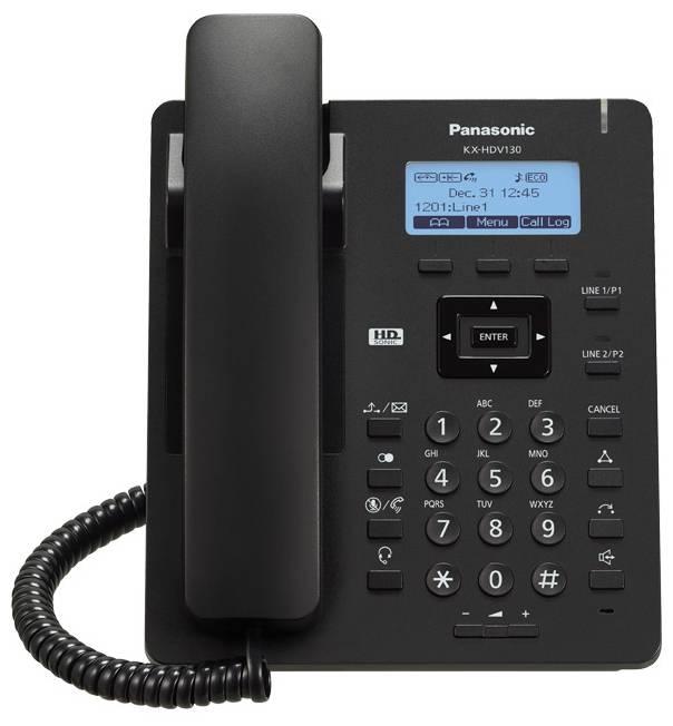 Телефон SIP Panasonic KX-HDV130RUB черный - фото 1