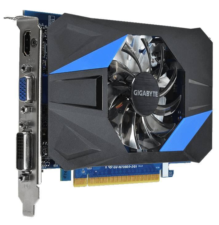 Видеокарта Gigabyte GeForce GT 730 1024 МБ (GV-N730D5OC-1GI) - фото 1