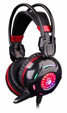 Наушники с микрофоном A4 Bloody G300 черный / красный
