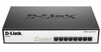 Коммутатор неуправляемый D-Link DES-1008P+/A1A