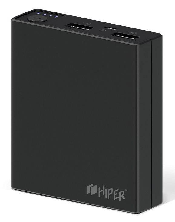 Мобильный аккумулятор HIPER RP7500 черный (RP7500 BLACK) - фото 1
