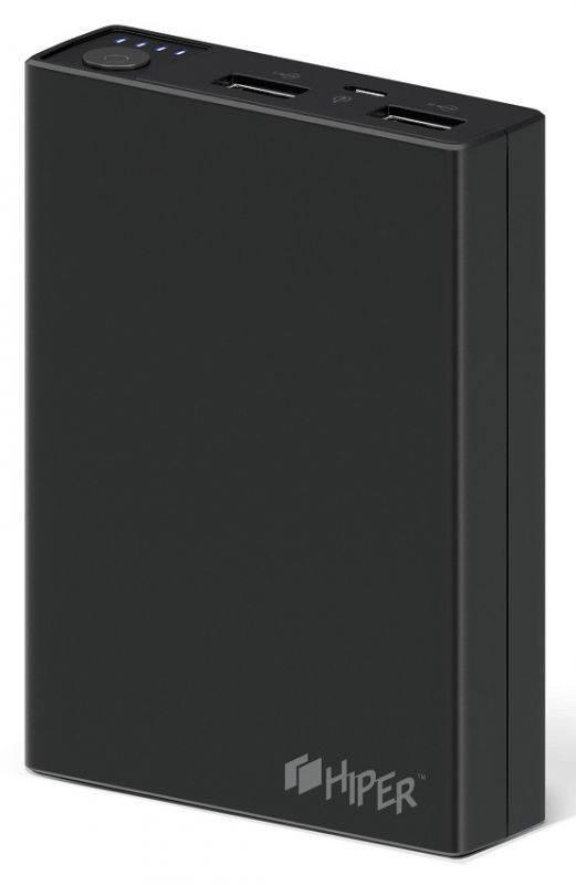 Мобильный аккумулятор HIPER RP10000 черный (RP10000 BLACK) - фото 1