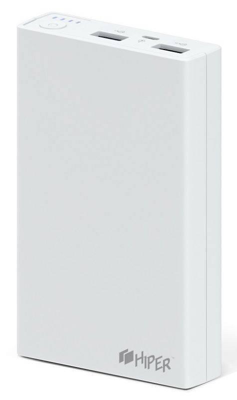 Мобильный аккумулятор HIPER RP12500 белый (RP12500 WHITE) - фото 1
