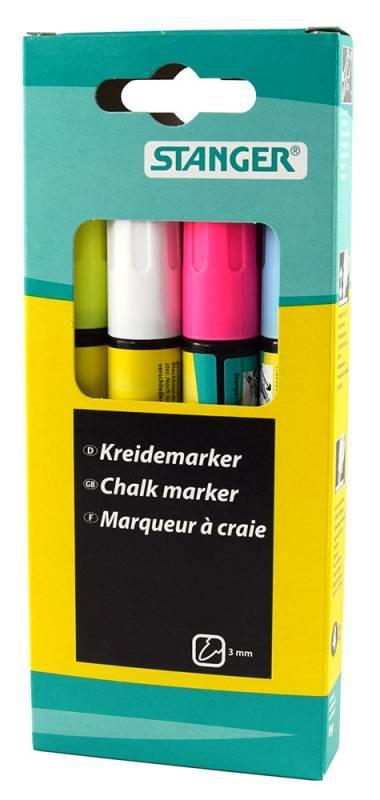 Набор маркеров меловых Stanger 620030 4цв. - фото 1