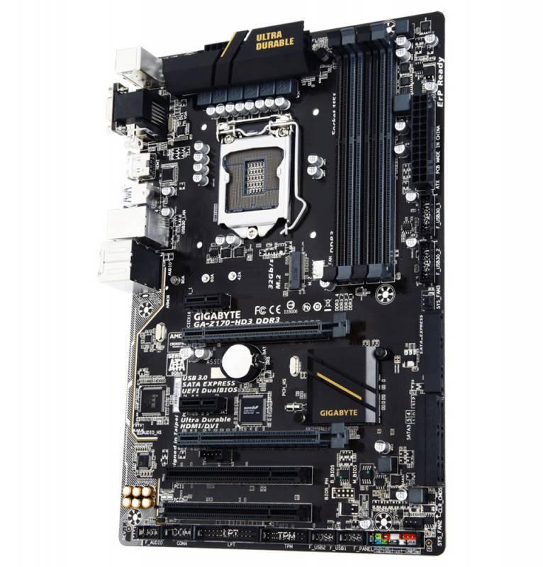 Материнская плата Soc-1151 Gigabyte GA-Z170-HD3 DDR3 ATX - фото 1
