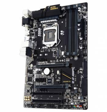 Материнская плата Gigabyte GA-Z170-HD3 DDR3, гнездо процессора LGA 1151, чипсет Intel Z170, память 4xDDR3, форм-фактор ATX, звук AC`97 8ch(7.1), RAID, слоты 2xPCI-E 3.0 x16, 2xPCI-E x1, разъемы GbLAN+VGA+DVI+HDMI