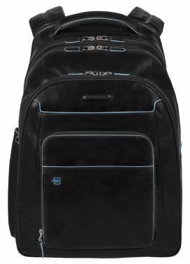 Рюкзак Piquadro Blue Square черный, кожа натуральная (CA1813B2/N)