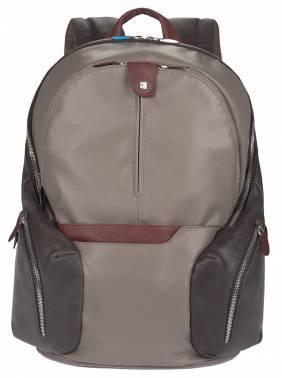 Рюкзак Piquadro Coleos серый, кожа натуральная и искусственная (CA2943OS/TO)