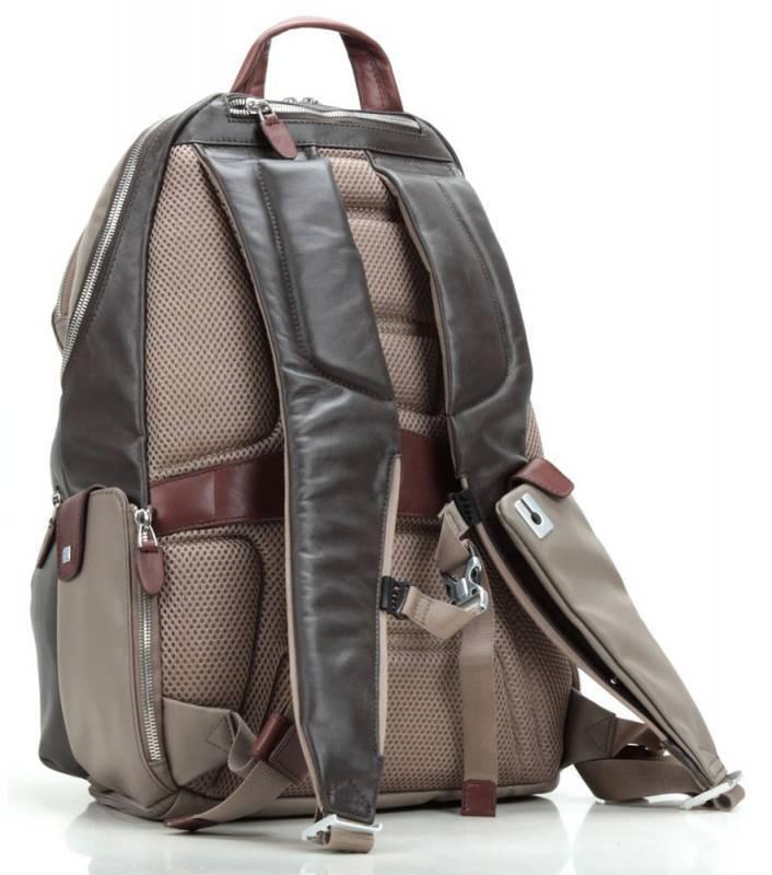 Рюкзак Piquadro Coleos серый, кожа натуральная и искусственная (CA2943OS/TO) - фото 2
